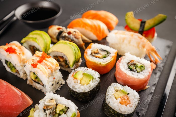 Japanese favorite food sushi maki