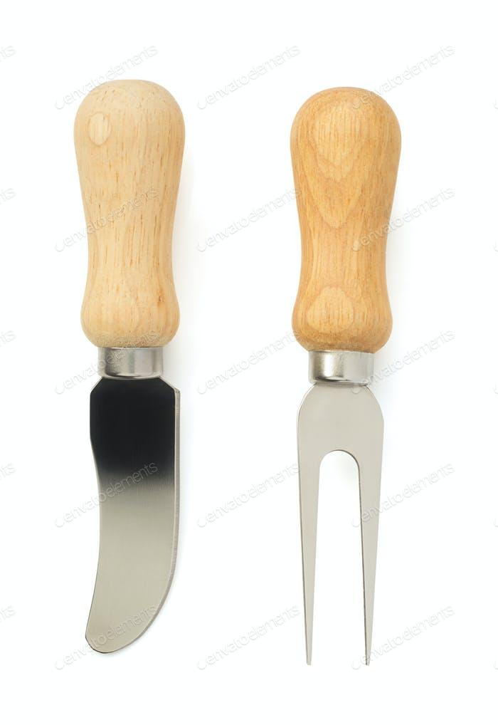 cheese knife isolated on white