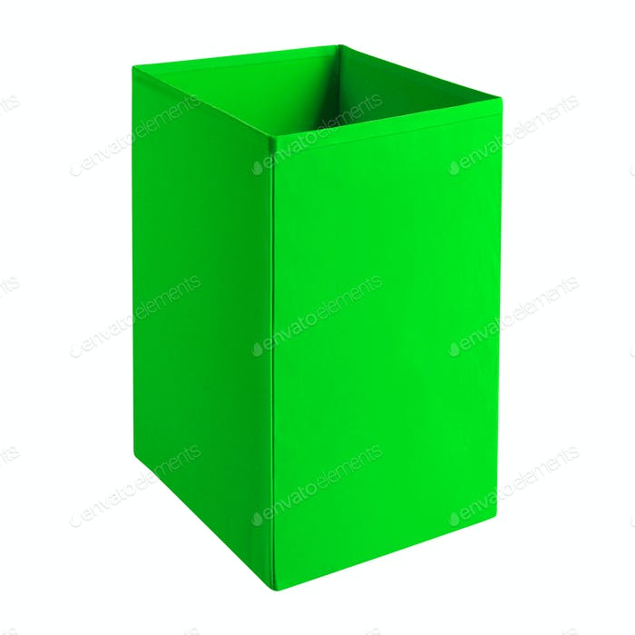 green clothing box isolated on white
