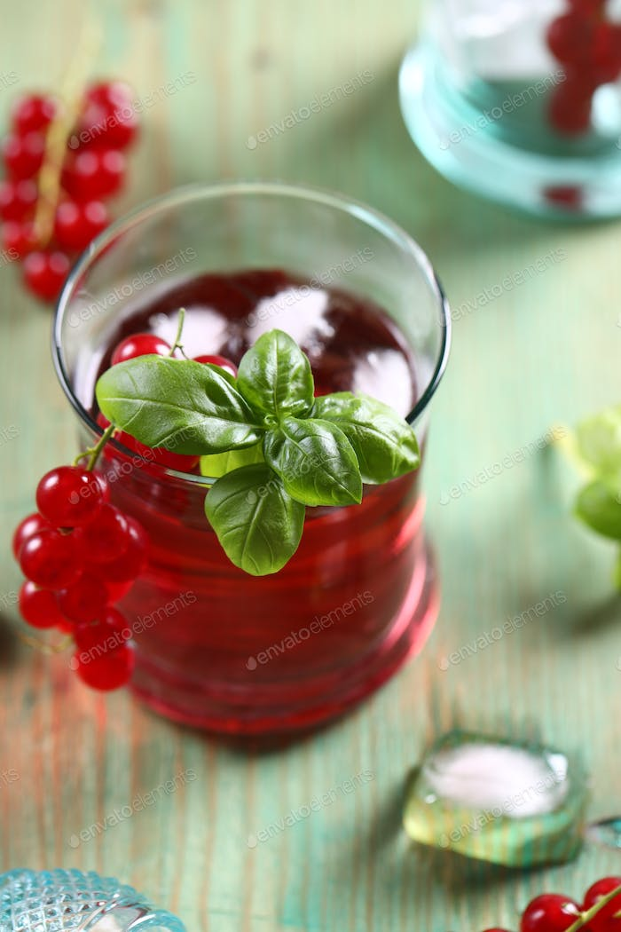 Drink With Red Currant