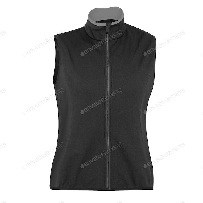 sports zipped vest isolated over white