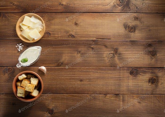 caesar sauce ingredients at wood
