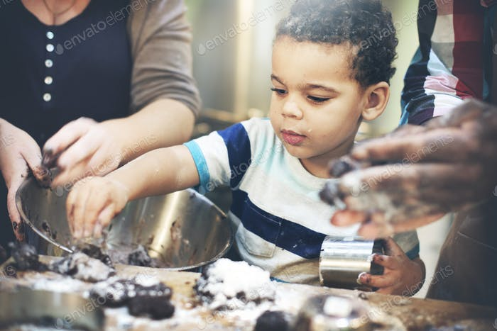 Cookie Bake Bäckerei Kind Dessert Entdeckung Freizeit-Konzept