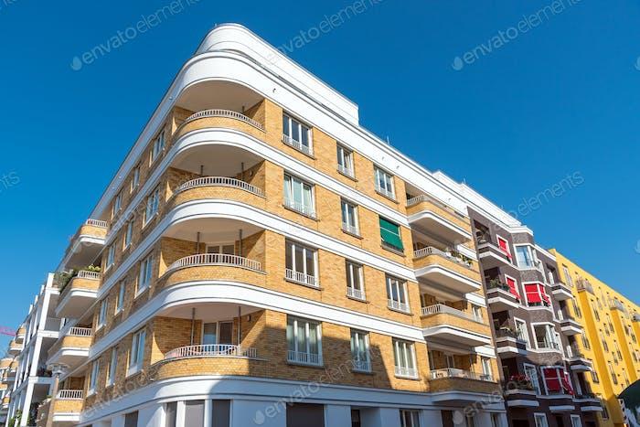 Modern apartment houses in Berlin