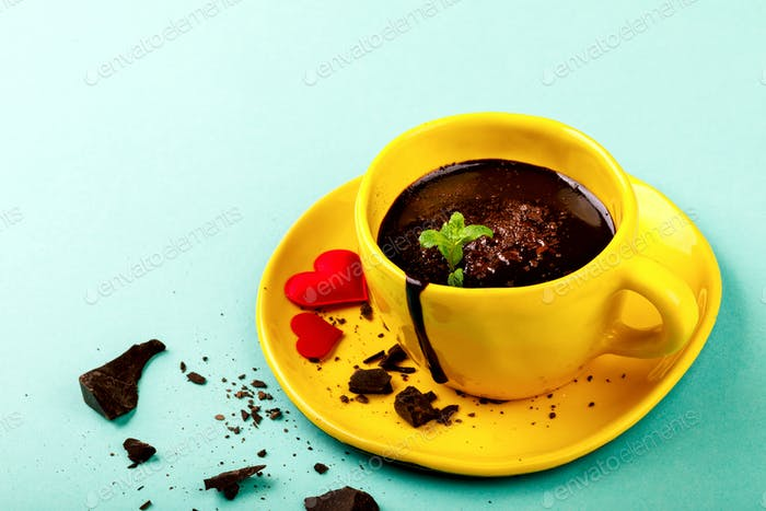 Hot Chocolate Festive Drink.Symbol Concept Holiday Valentine Day.Greeting Card,Gift.