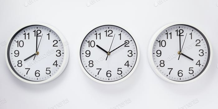 wall clock on white  background