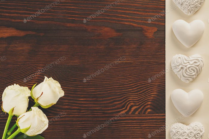 Tabletop with roses