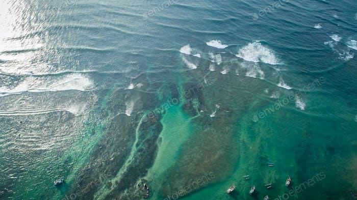 aerial of  sea water