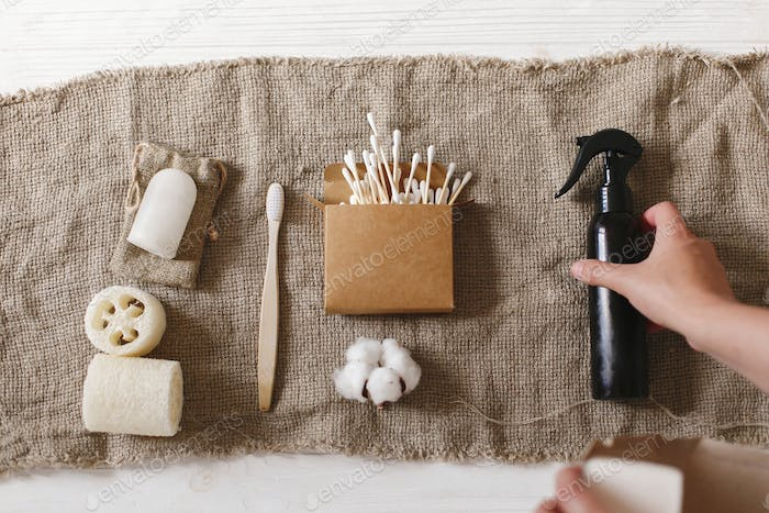 Plastic free items for personal hygiene