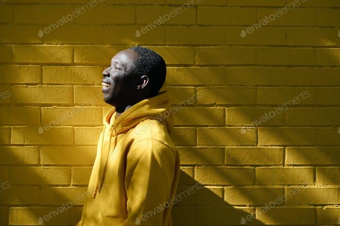 Black Man In Urban Setting