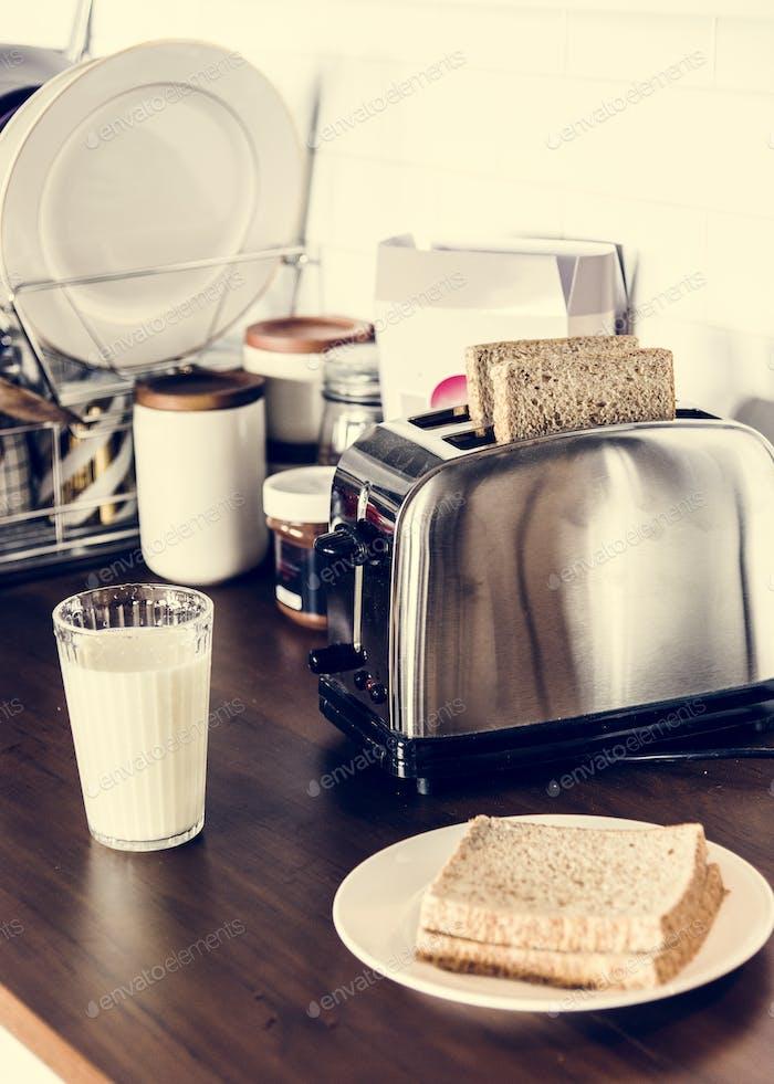 Pan y leche