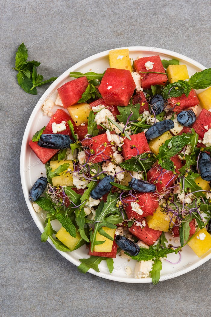 Watermelon Salad, Summer Fresh Fruity Appetizer