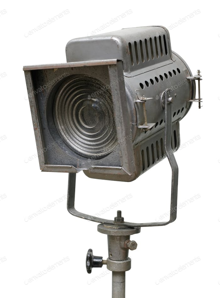 Old theatre or cinema spotlight