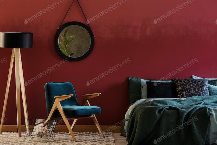 Sessel und Bett