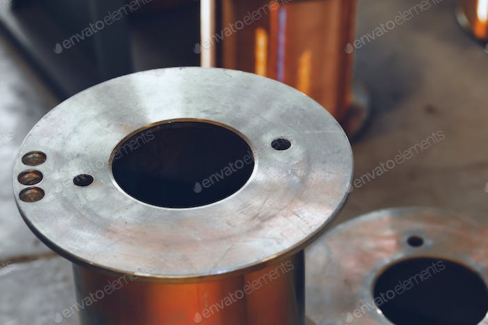 Metal reel for cable in industrial plant