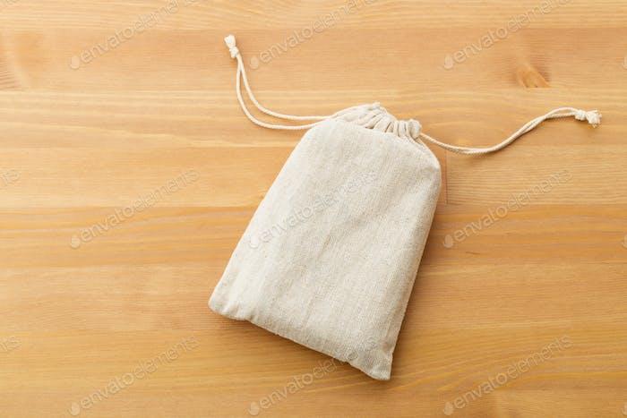 Small burlap bag
