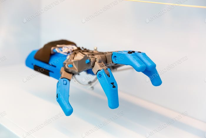 Prosthesis of human hand, mechanical part