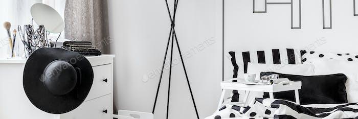 Monochromatic female bedroom