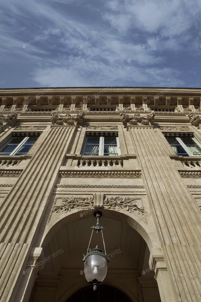 Facade of French Palais Royal