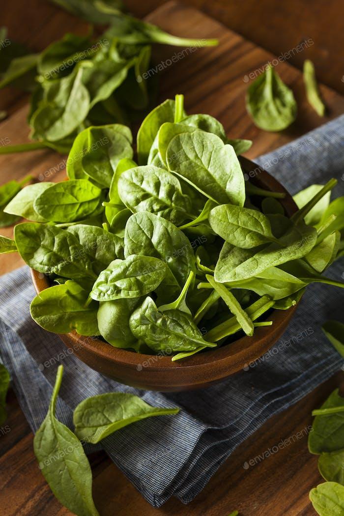 Raw Green Organic Baby Spinach
