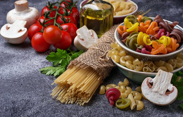 Selection of Italian food