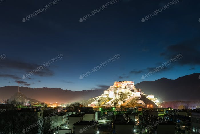 lhasa city at night