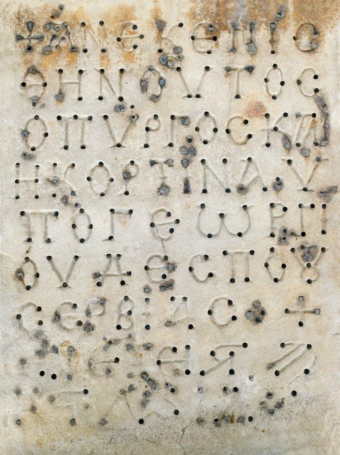 Inscriptions in Greek