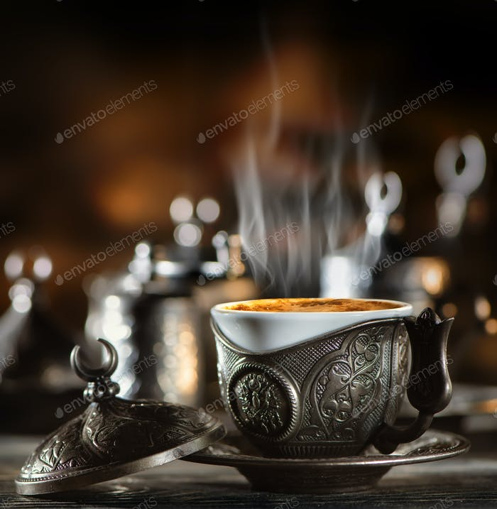 Coffee set in turkish style