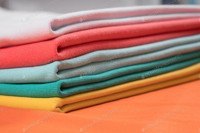 Knitted fabrics in assortment