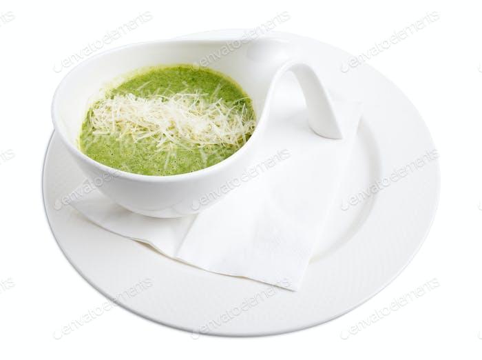 Delicious spinach cream soup.