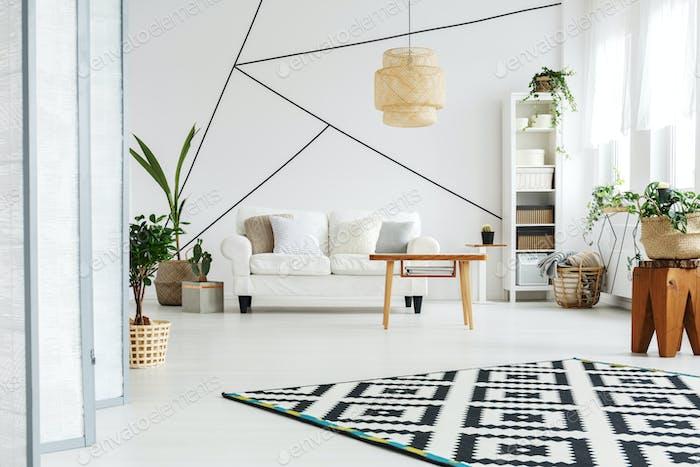Spacious white loft