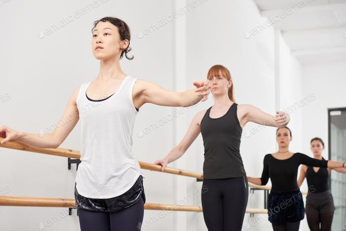 Enjoying ballet class