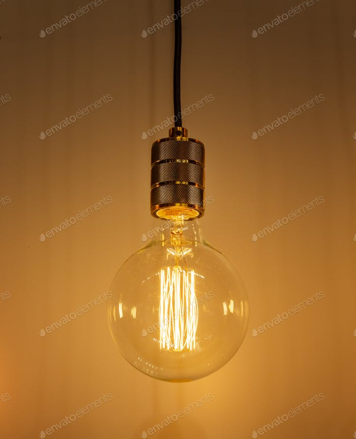 Retro Style Glowing  Electric Bulb