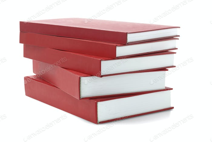 Red hard Cover Books