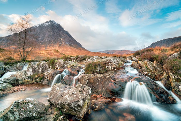 Waterfalls at Buachaille Etive Mor