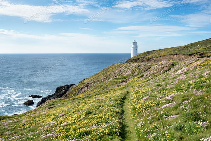 Trevose Lighthouse in Cornwall