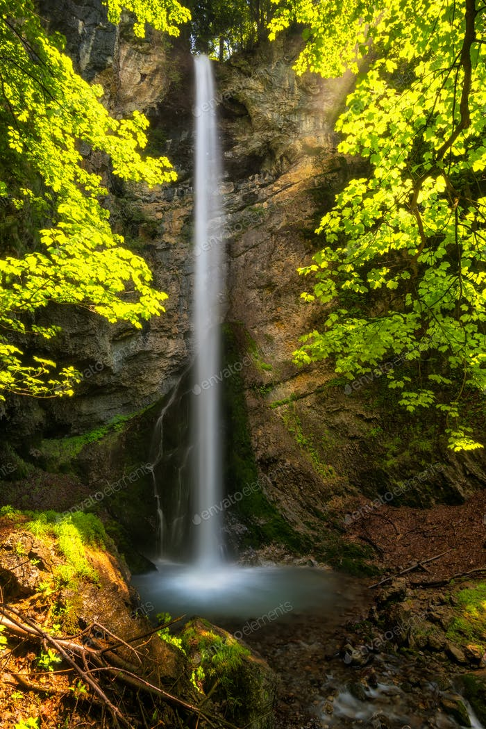 Waterfall in Balkan Mountains