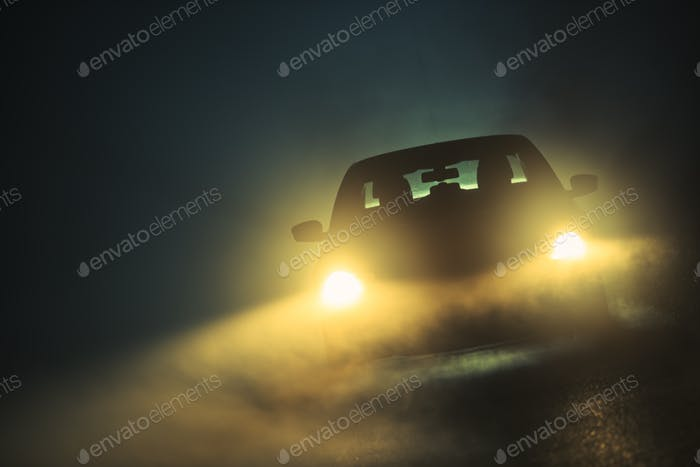 Car Driving in the Fog