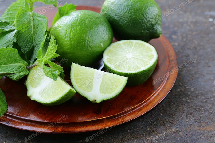 Fresh Natural Organic Green Lime