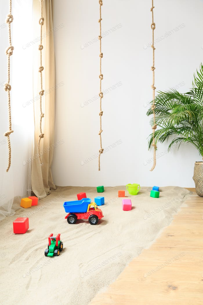 Toys in a room