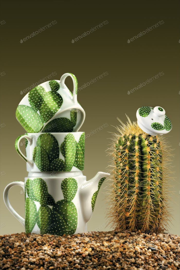 Prickly tea-party.