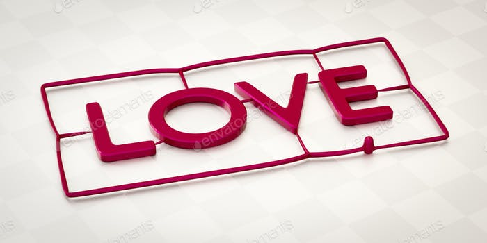 plastic injection molding word love