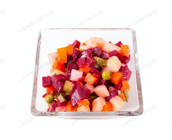 Russian beet salad vinaigrette.