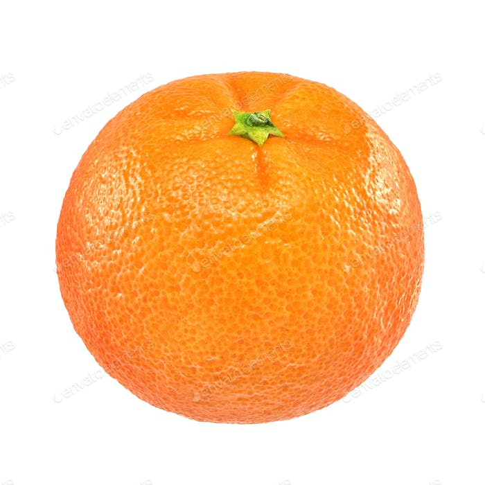 Ripe orange mandarin isolated