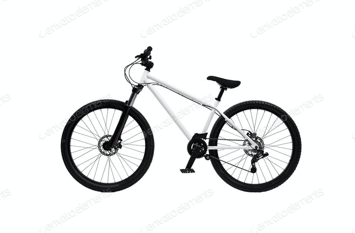 Bicycle on a white background