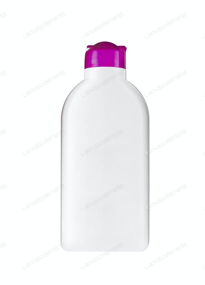 Plastic bottle with soap or shampoo