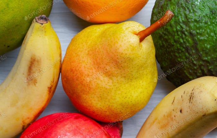 Mixed fruit background.