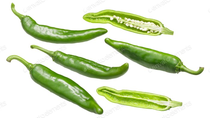 Lumbre green chile peppers