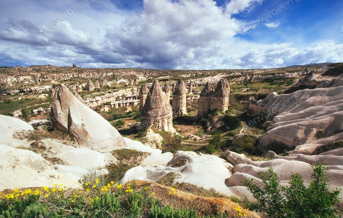 valley of love in summertime, Goreme, Cappadocia, Turkey