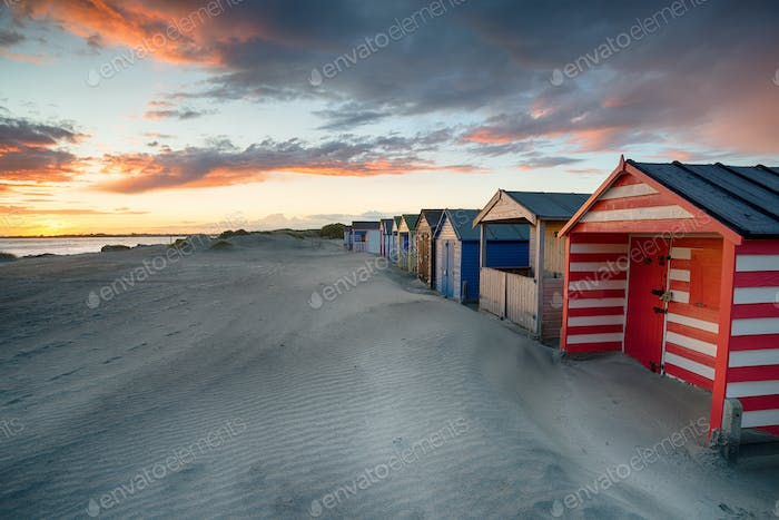 Sonnenuntergang bei West Wittering in Sussex